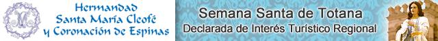 Asociaciones Totana : Hermandad de Santa María Cleofé y Coronación de Espinas