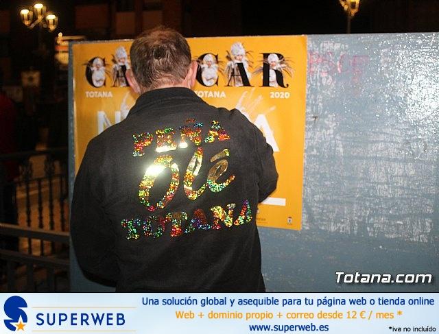 Pegada de carteles Carnaval Totana 2020 - 21