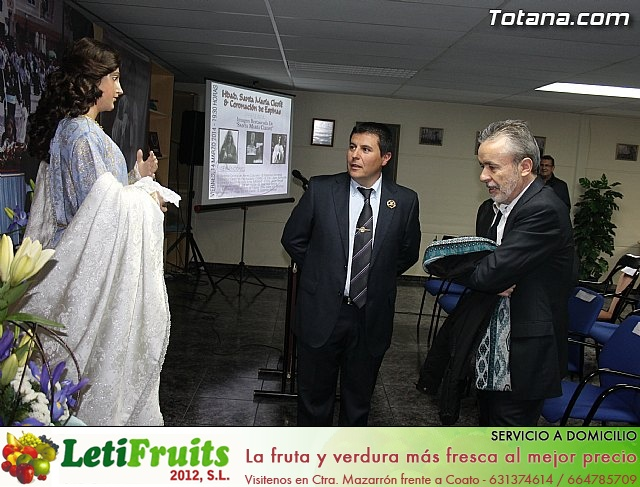 Cultura restaura la imagen de Santa María Cleofé de Totana - 1
