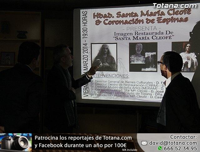 Cultura restaura la imagen de Santa María Cleofé de Totana - 8