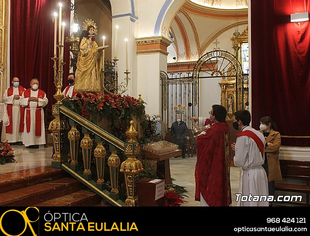 Solemne eucaristía con motivo de la festividad de la Patrona de Totana, Santa Eulalia de Mérida 2020 - 28