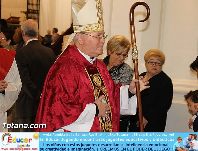 El obispo de la diócesis de Cartagena preside la misa en la festividad de la Patrona de Totana, Santa Eulalia de Mérida - 2016 - 27