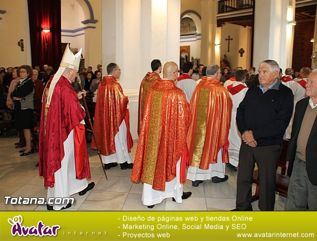 El obispo de la diócesis de Cartagena preside la misa en la festividad de la Patrona de Totana, Santa Eulalia de Mérida - 2016 - 30