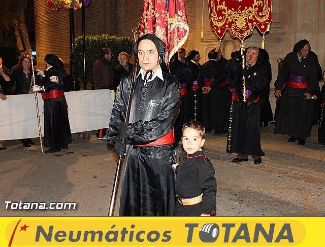 Procesión del Santo Entierro (Salida) - Viernes Santo noche - Semana Santa Totana 2015 - 15
