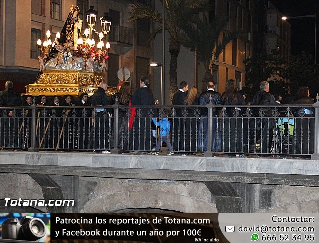 Procesión del Santo Entierro (Recogida) - Viernes Santo noche - Semana Santa Totana 2015 - 2