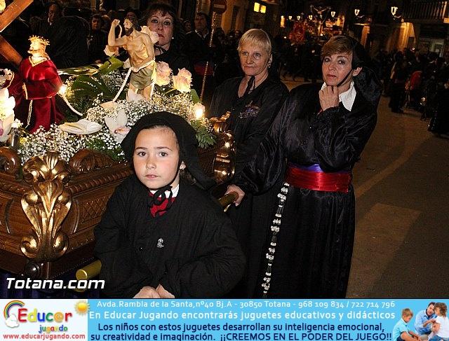 Procesión del Santo Entierro (Recogida) - Viernes Santo noche - Semana Santa Totana 2015 - 29