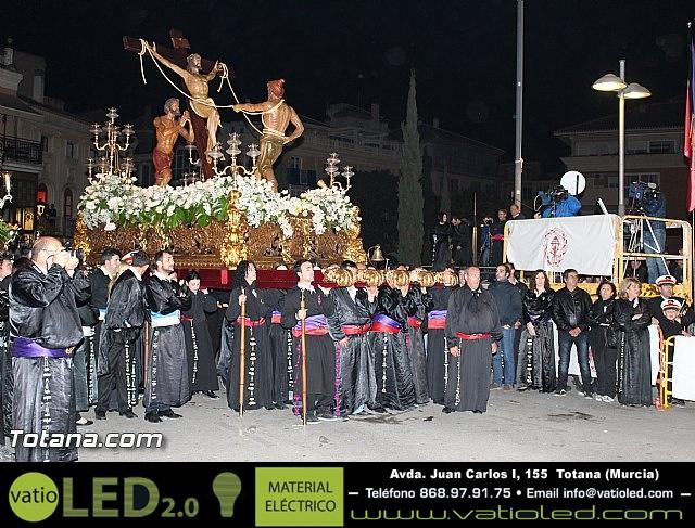 Procesión del Santo Entierro (Recogida) - Viernes Santo noche - Semana Santa Totana 2015 - 738