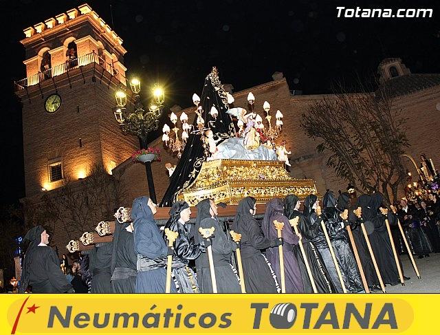 Procesión del Santo Entierro (Recogida) - Viernes Santo noche - Semana Santa Totana 2015 - 747