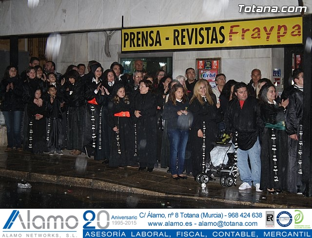La lluvia obliga a suspender la Procesión del Jueves Santo 2011 - 40