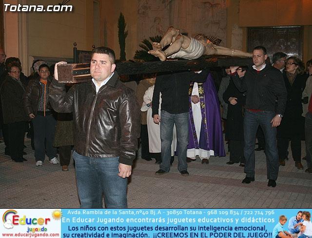 VÍA CRUCIS ORGANIZADO POR LA HERMANDAD DE JESÚS EN EL CALVARIO Y SANTA CENA . 2009 - 12