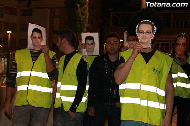 Manifestación de la Policía Local frente al Consejero de Presidencia y autoridades municipales (Miércoles Santo) - 2