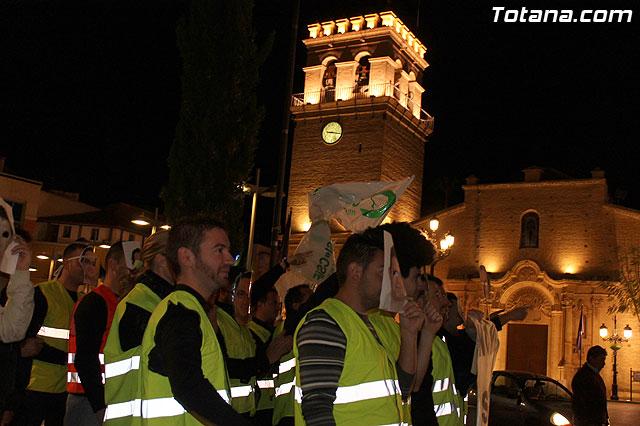 Manifestación de la Policía Local frente al Consejero de Presidencia y autoridades municipales (Miércoles Santo) - 10