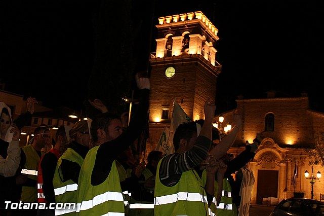Manifestación de la Policía Local frente al Consejero de Presidencia y autoridades municipales (Miércoles Santo) - 11