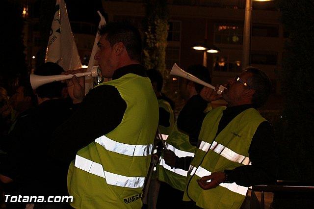 Manifestación de la Policía Local frente al Consejero de Presidencia y autoridades municipales (Miércoles Santo) - 14