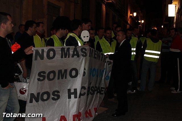 Manifestación de la Policía Local frente al Consejero de Presidencia y autoridades municipales (Miércoles Santo) - 30
