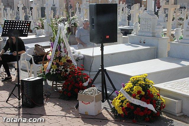 Acto institucional de descubrimiento de la lápida en memoria de los 11 fusilados de Totana y Aledo en octubre 1939 - 3