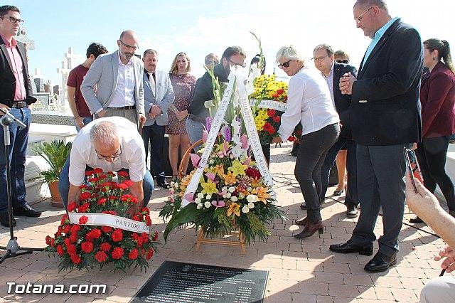 Acto institucional de descubrimiento de la lápida en memoria de los 11 fusilados de Totana y Aledo en octubre 1939 - 72
